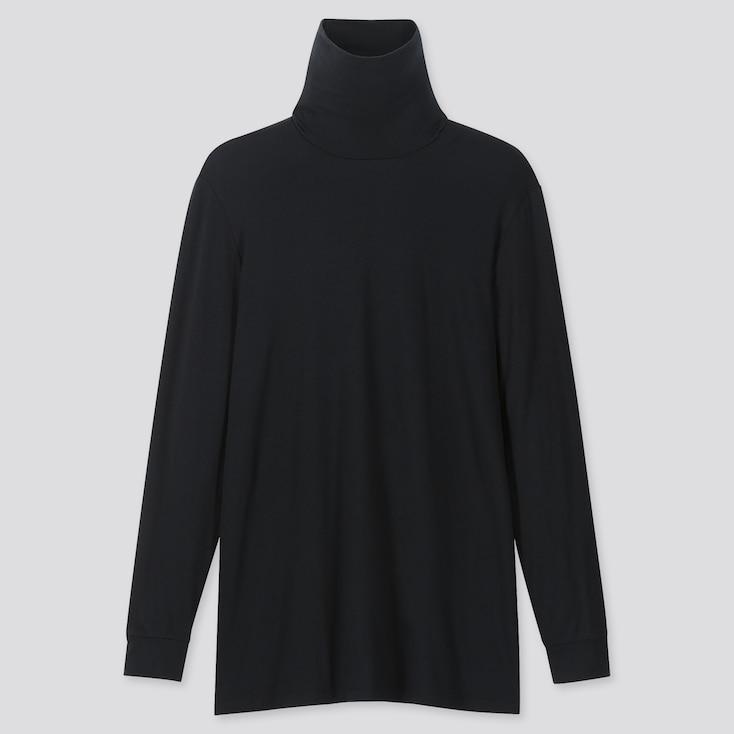 MEN HEATTECH LONG-SLEEVE TURTLENECK T-SHIRT, BLACK, large