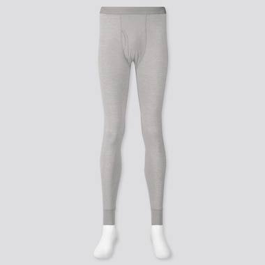 Men Heattech Long Johns, Light Gray, Medium