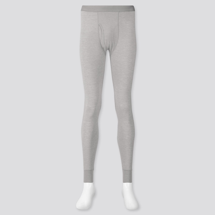 MEN HEATTECH LONG JOHNS, LIGHT GRAY, large