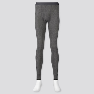 Men Heattech Long Johns, Dark Gray, Medium