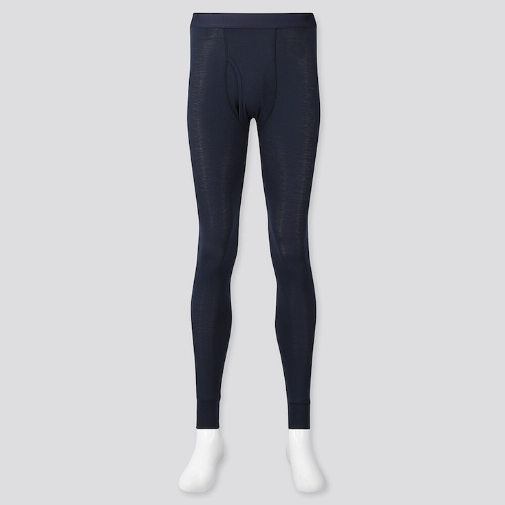 Men Heattech Long Johns, Navy, Large
