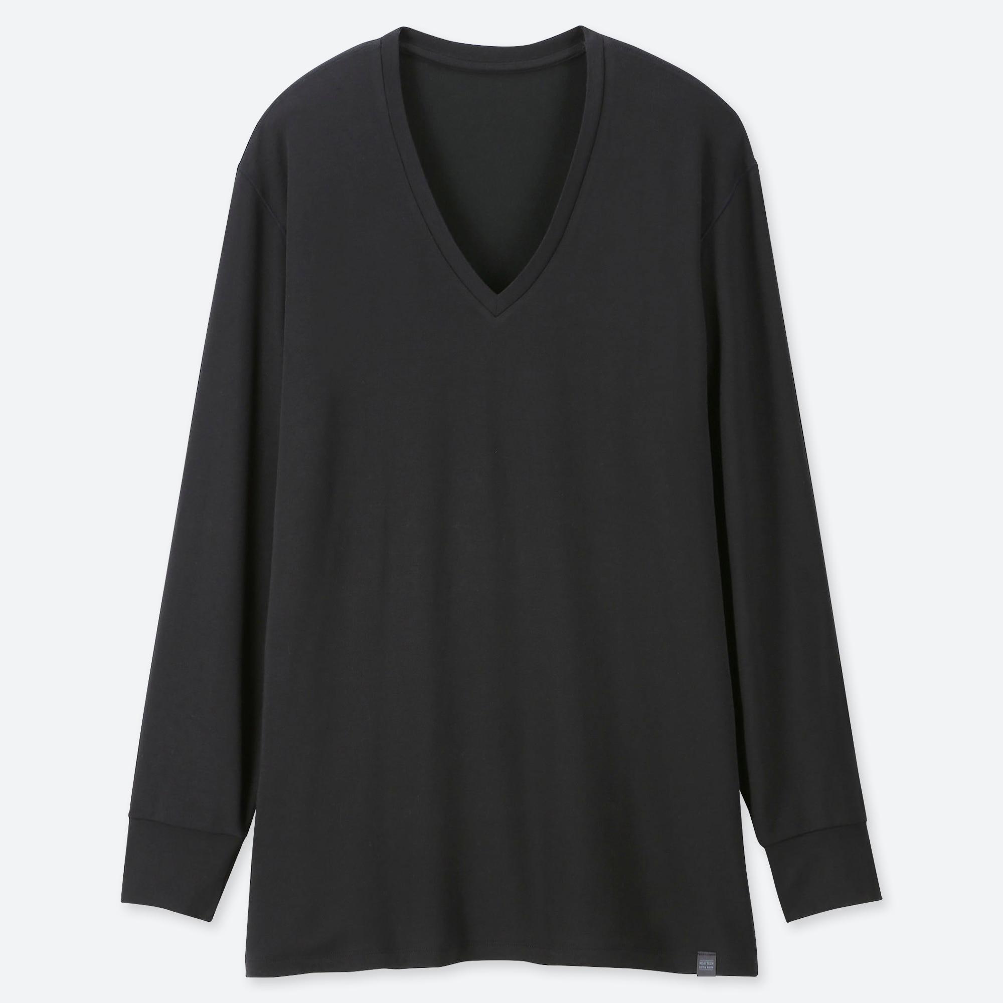 men HEATTECH extra warm v-neck long-sleeve t-shirt