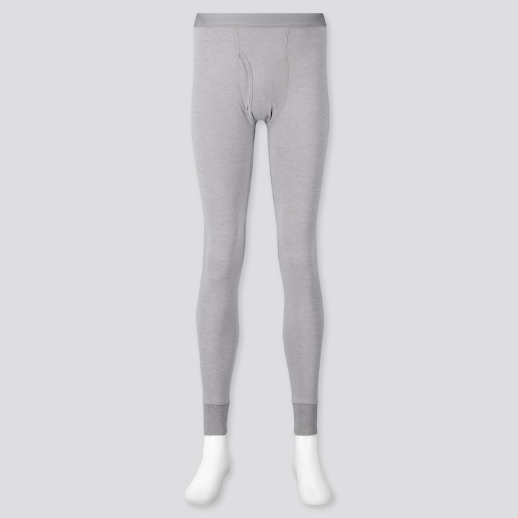 MEN HEATTECH EXTRA WARM LONG JOHNS, LIGHT GRAY, large