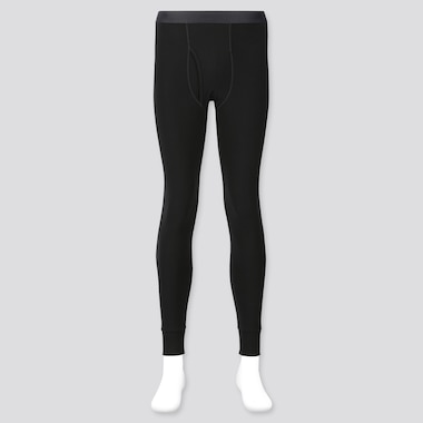 Men Heattech Ultra Warm Long Johns, Black, Medium
