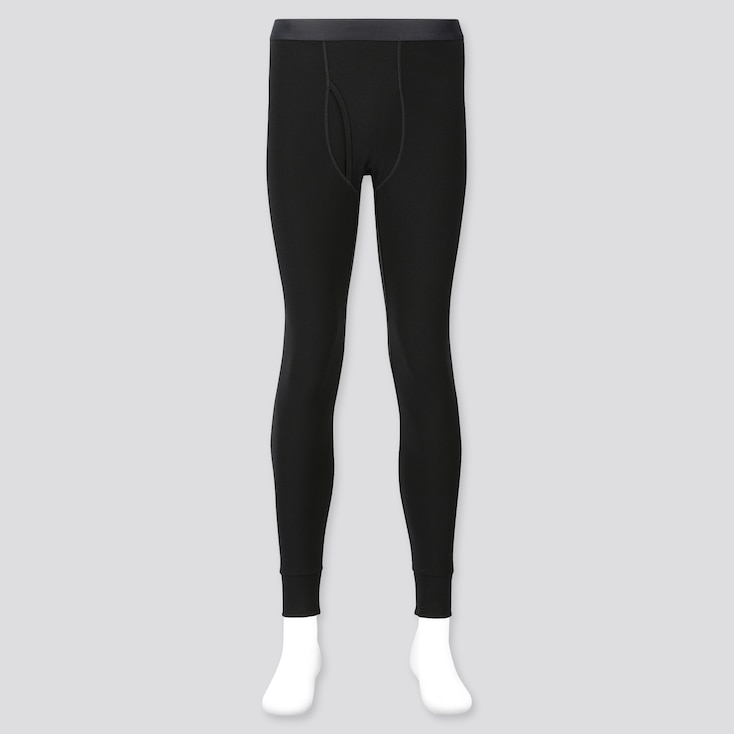 Men Heattech Ultra Warm Long Johns, Black, Large