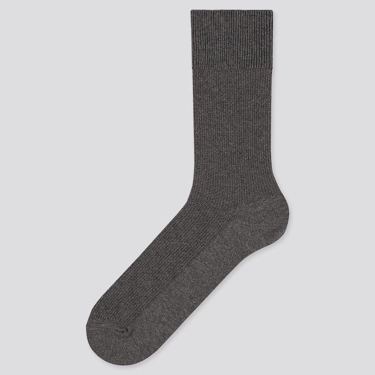 MEN SUPIMA® COTTON PIQUE SOCKS, DARK GRAY, large