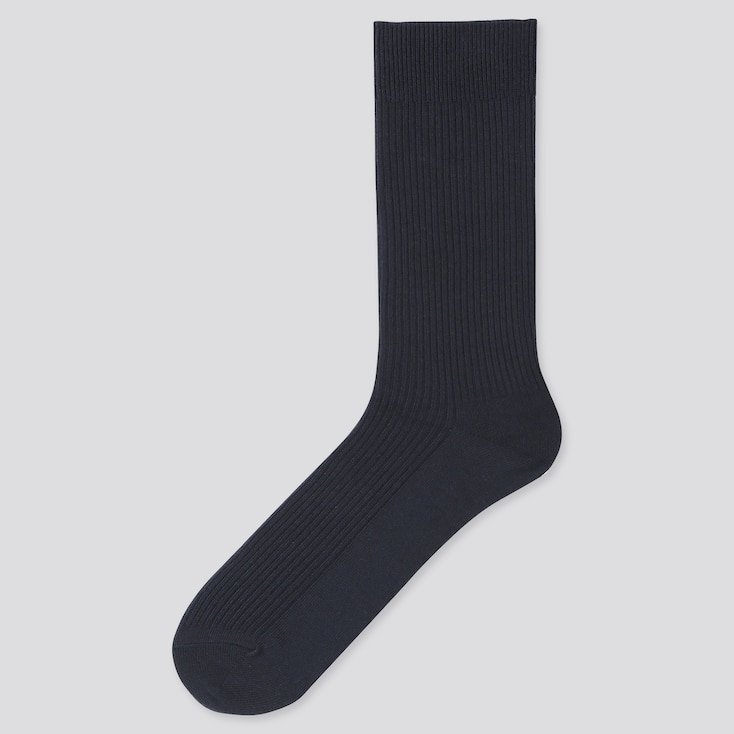Men Color Socks, Navy, Large