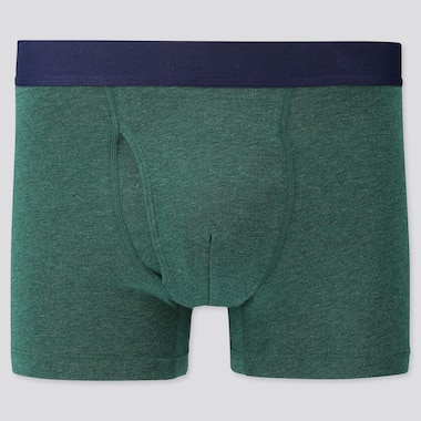 MEN SUPIMA® COTTON BOXER BRIEFS, GREEN, medium