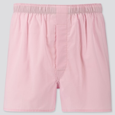 MEN WOVEN BROAD BOXERS, PINK, medium