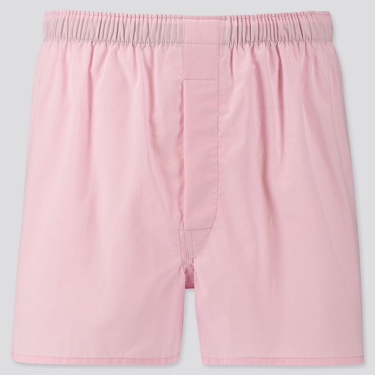 MEN WOVEN BROAD BOXERS, PINK, large