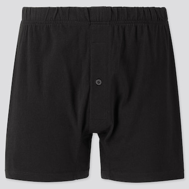 MEN KNIT BOXERS, BLACK, medium