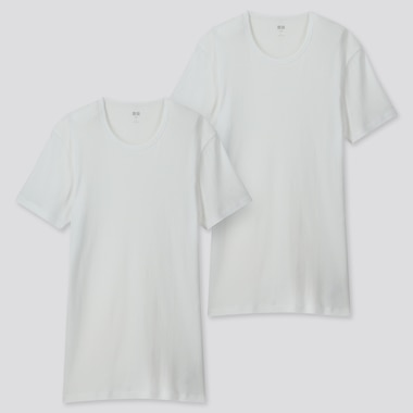 MEN SUPIMA® COTTON SHORT-SLEEVE T-SHIRT (SET OF 2), WHITE, medium