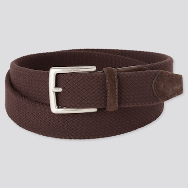 MEN STRETCH MESH BELT, DARK BROWN, medium