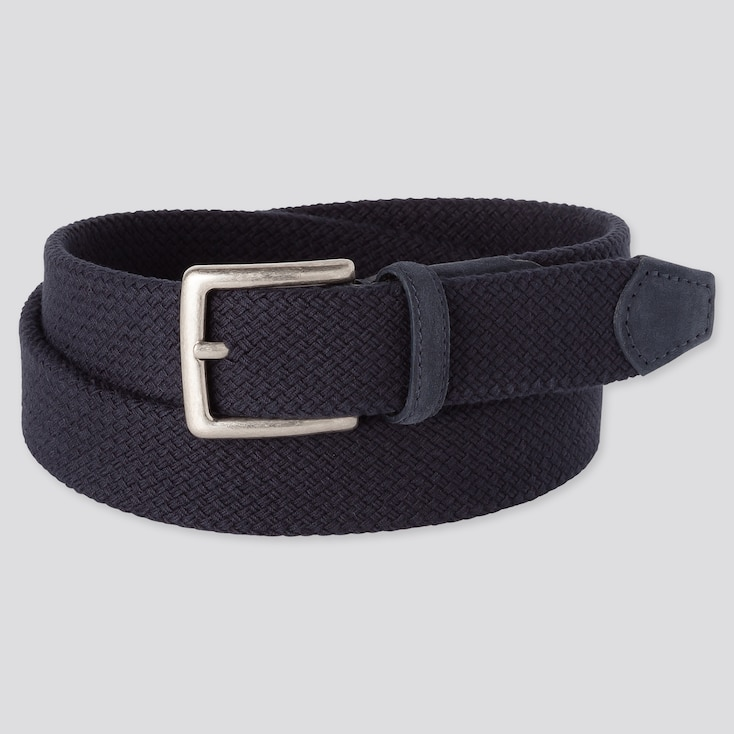 MEN STRETCH MESH BELT, NAVY, large