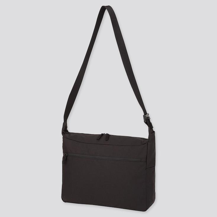 SHOULDER BAG, BLACK, large
