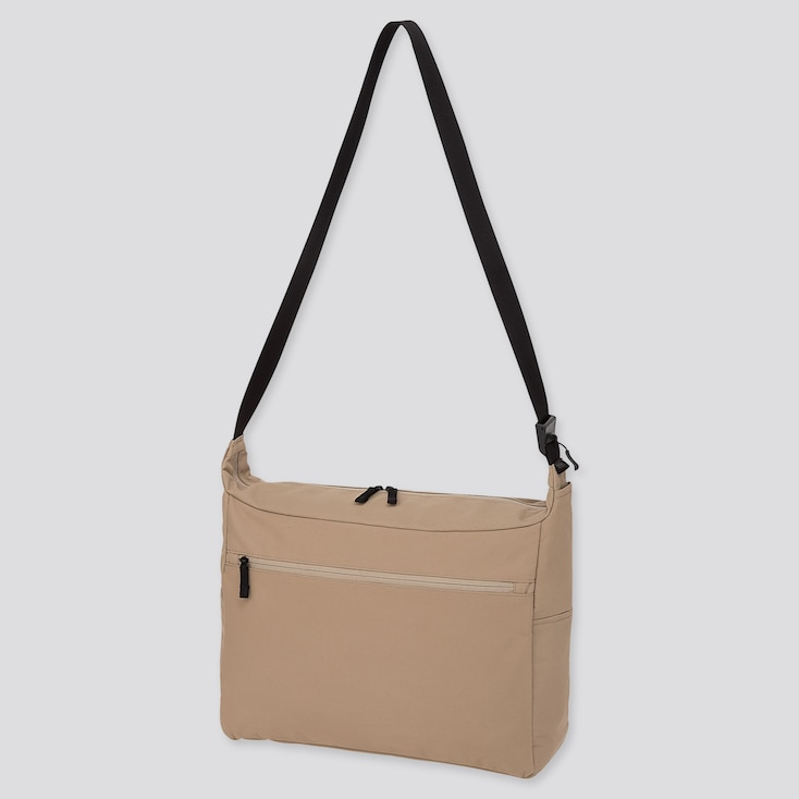 SHOULDER BAG, BEIGE, large