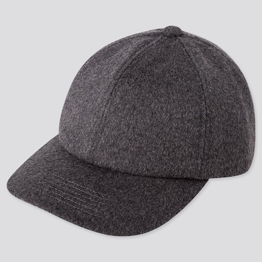 WOOL CASHMERE CAP, DARK GRAY, medium