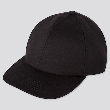 WOOL CASHMERE CAP, BLACK, medium