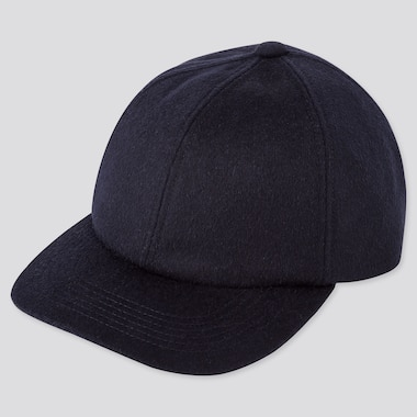 WOOL CASHMERE CAP, NAVY, medium