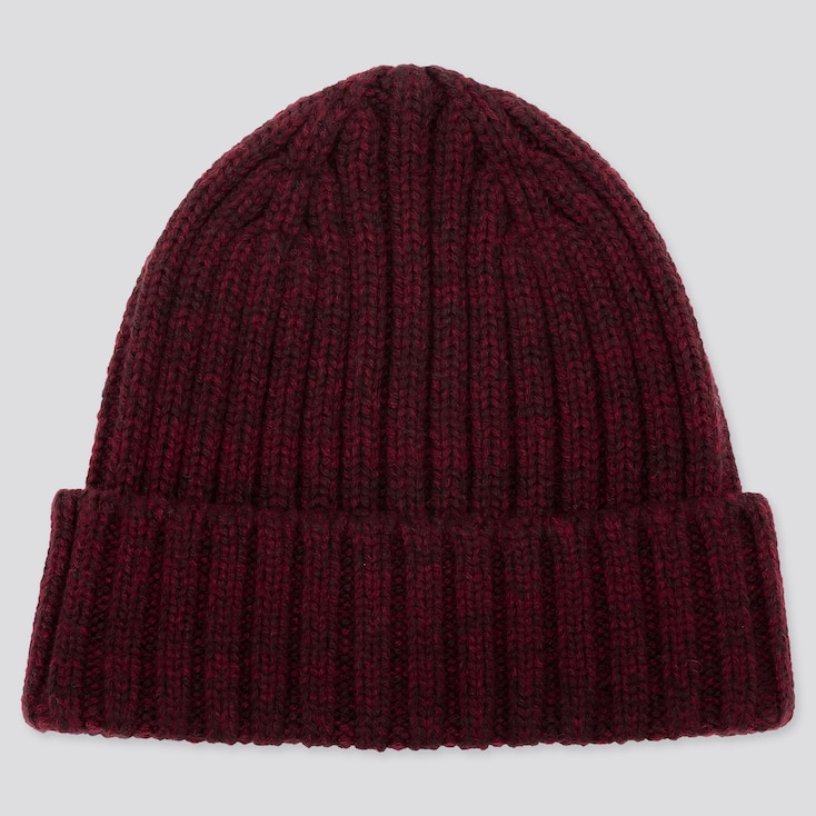 HEATTECH KNITTED CAP, RED, large
