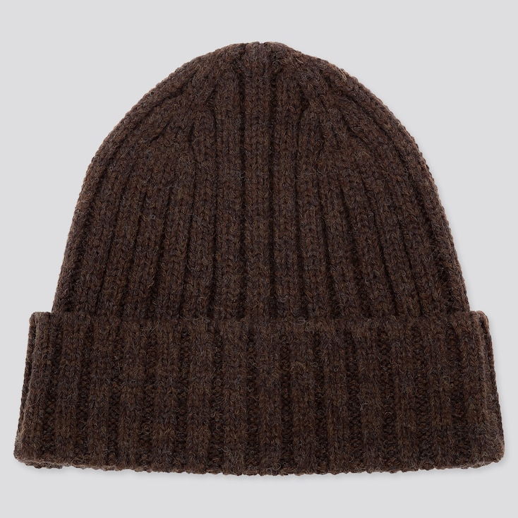 HEATTECH KNITTED CAP, BROWN, large