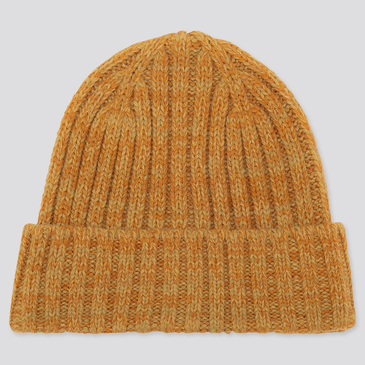 Heattech Knitted Cap, Yellow, Large