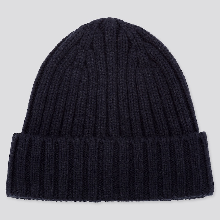 Heattech Knitted Cap, Navy, Large