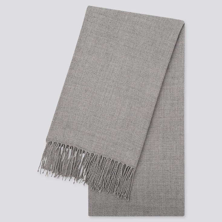 HEATTECH SCARF, GRAY, large