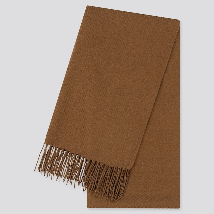 HEATTECH SCARF, BROWN, large