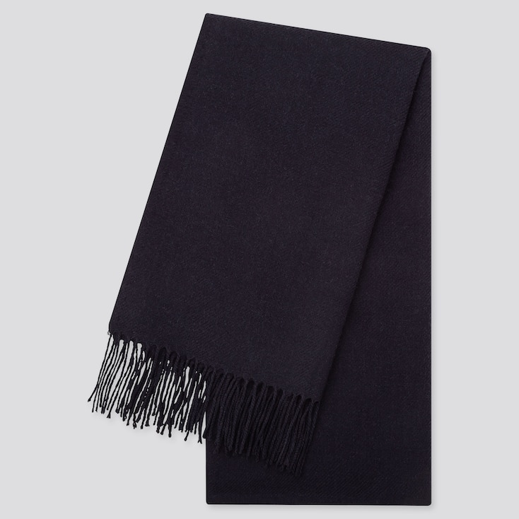 HEATTECH SCARF, NAVY, large
