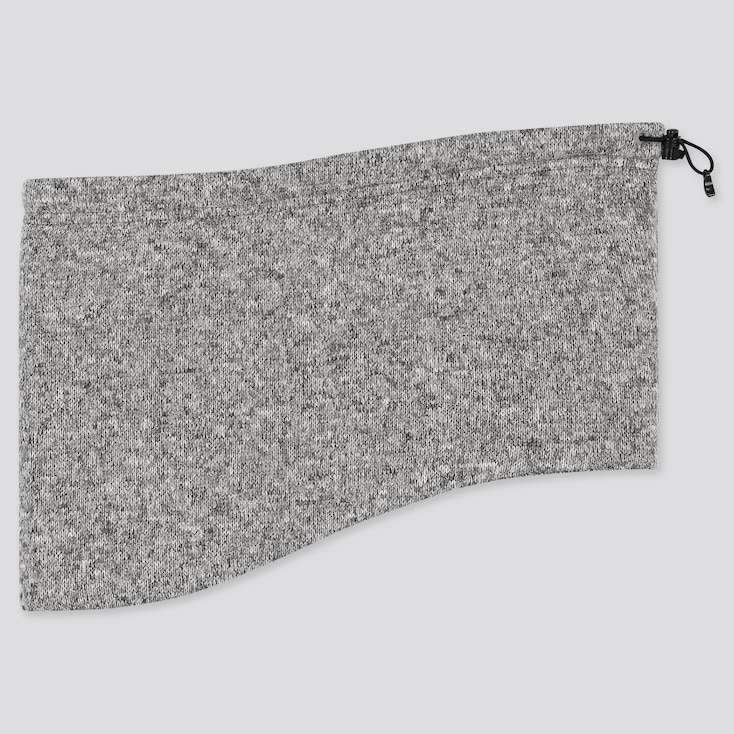 Heattech Knitted Fleece Neck Warmer, Gray, Large