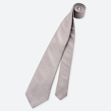 MEN SILK TIE, GRAY, medium