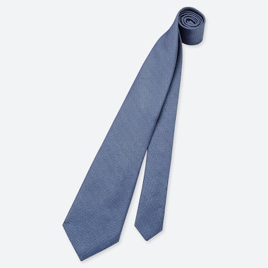 MEN SILK TIE, BLUE, medium