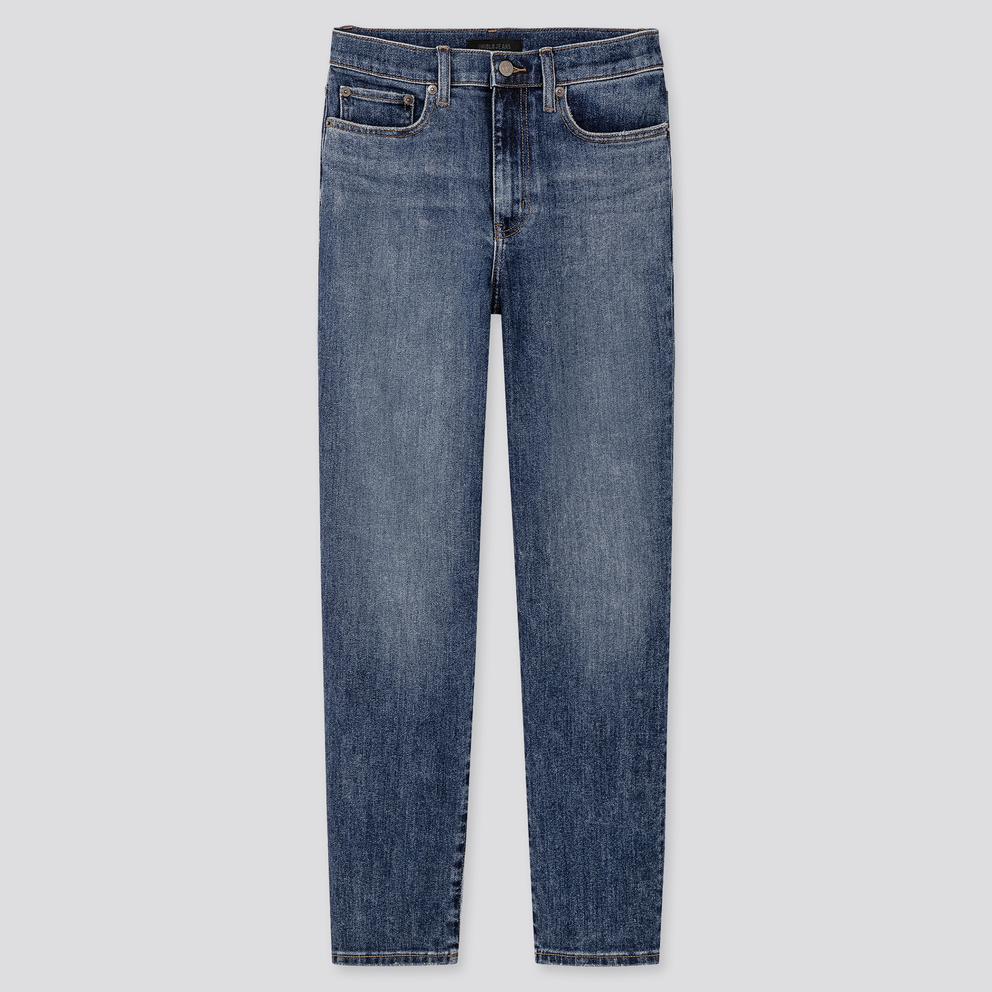 WOMEN HIGH-RISE STRAIGHT JEANS