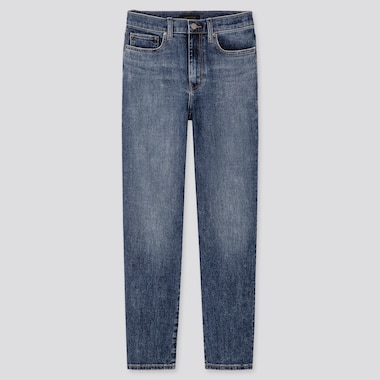 WOMEN HIGH RISE STRAIGHT LEG JEANS (L30)