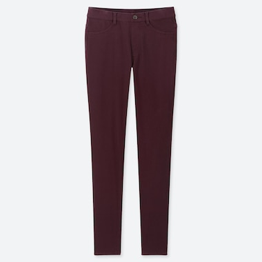 WOMEN ULTRA STRETCH LEGGINGS PANTS, WINE, medium