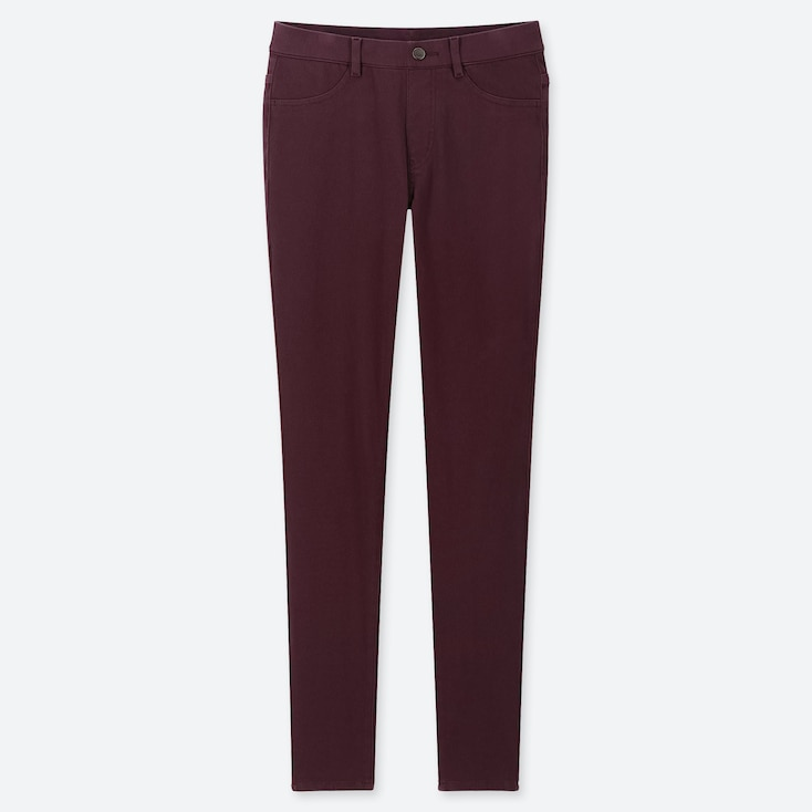 WOMEN ULTRA STRETCH LEGGINGS PANTS, WINE, large