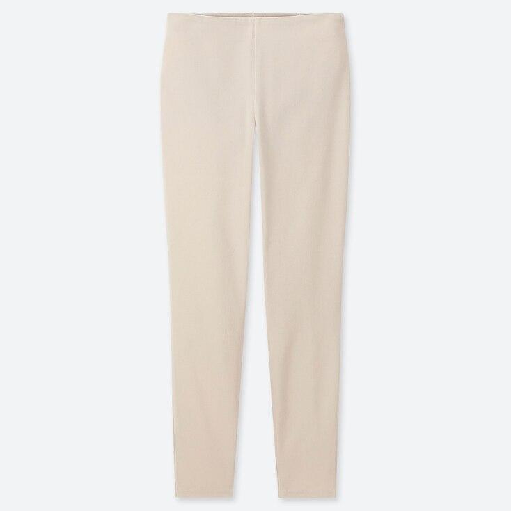 WOMEN SMART LEGGINGS PANTS, NATURAL, large