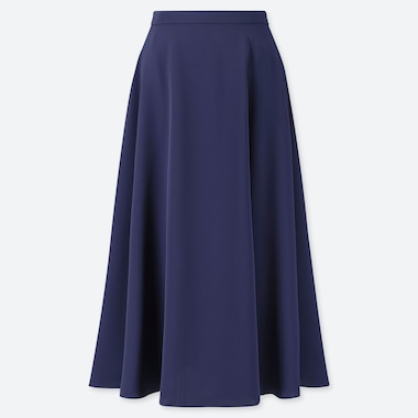 WOMEN DRAPE CIRCULAR SKIRT, BLUE, medium