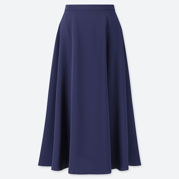 WOMEN DRAPE CIRCULAR SKIRT, BLUE, large