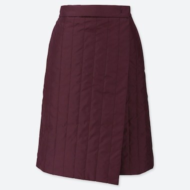 WOMEN WINDPROOF WARM-LINED WRAP SKIRT, PURPLE, medium
