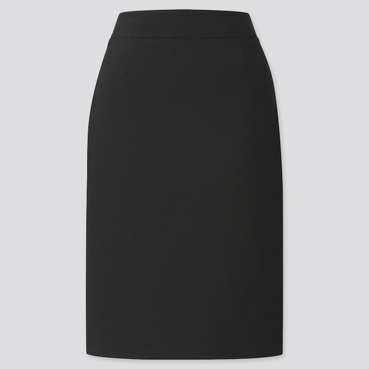 WOMEN STRETCH SKIRT (ONLINE EXCLUSIVE), BLACK, large