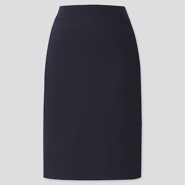 WOMEN STRETCH SKIRT (ONLINE EXCLUSIVE), BLUE, medium
