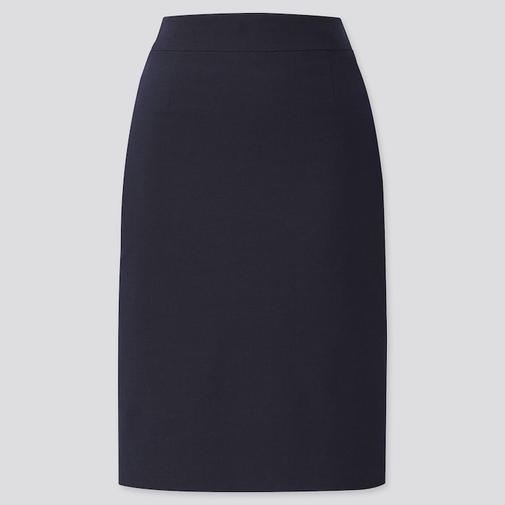 WOMEN STRETCH SKIRT (ONLINE EXCLUSIVE), BLUE, large