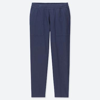 MEN WASHED JERSEY ANKLE-LENGTH PANTS, BLUE, medium