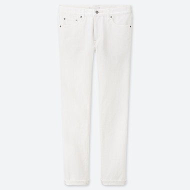 MEN STRETCH SELVEDGE SLIM-FIT JEANS, WHITE, medium