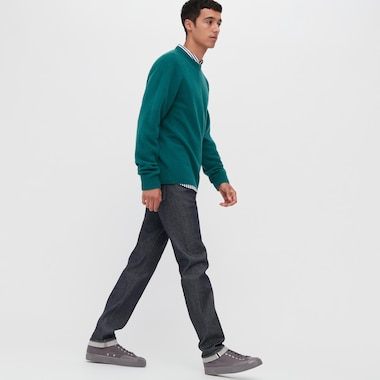 Men Selvedge Stretch Slim Fit Jeans (L34)