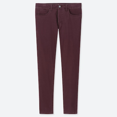 MEN EZY SKINNY FIT COLOR JEANS, WINE, medium