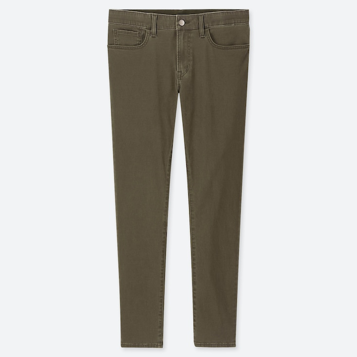 MEN EZY SKINNY FIT COLOR JEANS, OLIVE, large