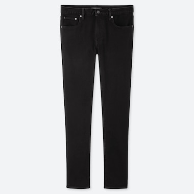 MEN HEATTECH SLIM-FIT JEANS, BLACK, medium